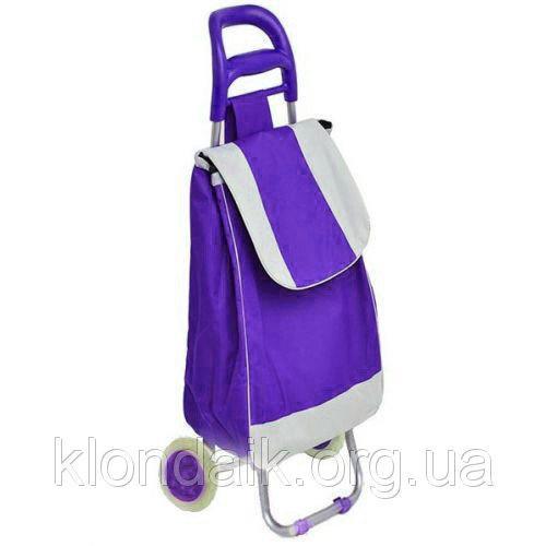 Тачка сумка с колесиками кравчучка 95см E00317 Purple