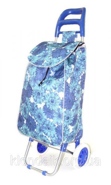 Тачка сумка с колесиками кравчучка 96см MH-1900 синие цветы