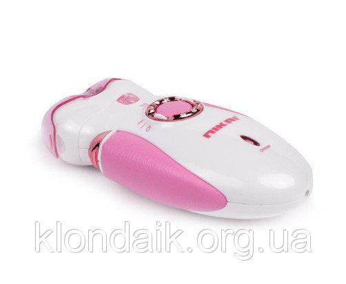 Эпилятор 3 в 1 Nikai 7698 с бритвенной насадкой Pink