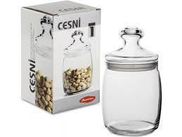 CESNI Банка со стекл. крышкой, 920 мл (h=186мм,d=109х85мм) 97560