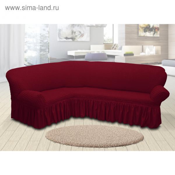 Чехол для мягкой мебели угловой диван 3-х местный 6055, трикотаж, 100%пэ, упаковка микс