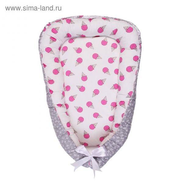Гнёздышко-кокон Little Baby, размер 35×65 см, мороженки