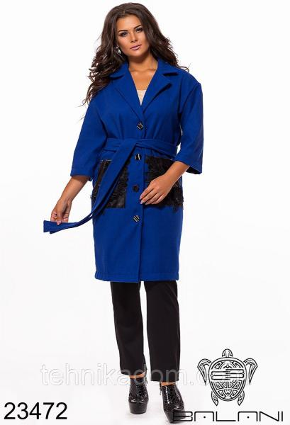 Стильное пальто- 23472