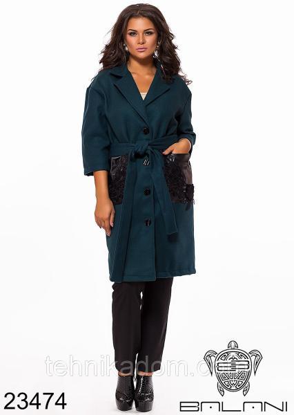 Стильное пальто- 23474