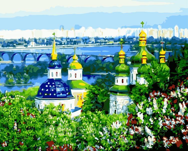 Фото Картины на холсте по номерам, Городской пейзаж GX 8293  Картина по номерам на холсте 40х50см без коробки, в пакете