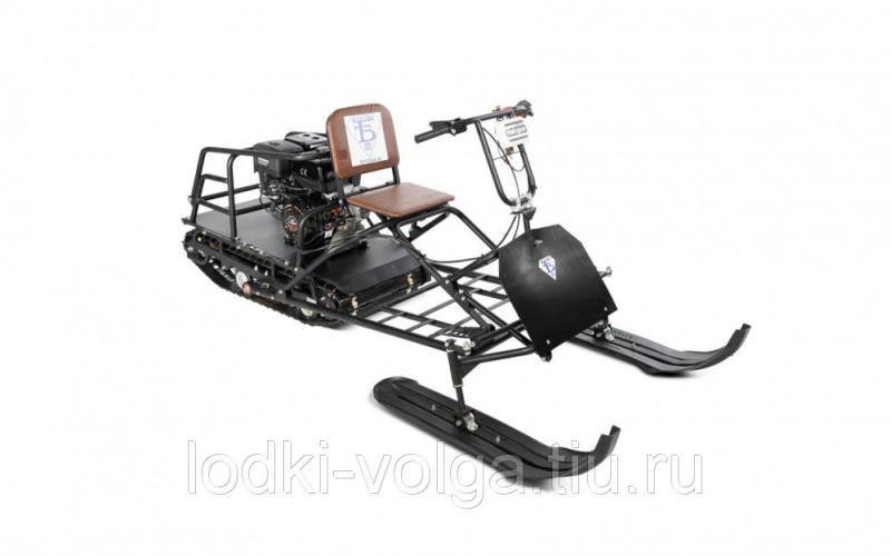 Мотобуксировщик Бурлак-М Vector 9 л.с. редуктор  (Лыжный модуль в комплекте)