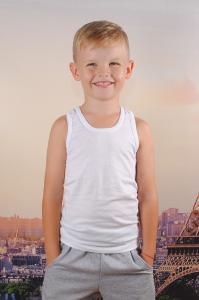 Фото Колготы, носочки, нижнее белье Майка белая мальчику 68/128 см