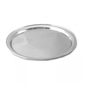 Поднос металлический круглый