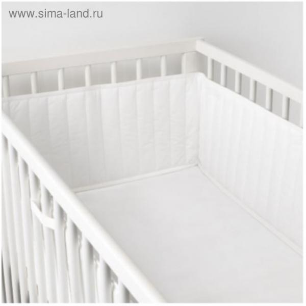 Бортик ЛЕН, размер 60х120 см, цвет белый