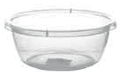 Прозрачный круглый таз, 2,7 л (240*95 мм) 94011