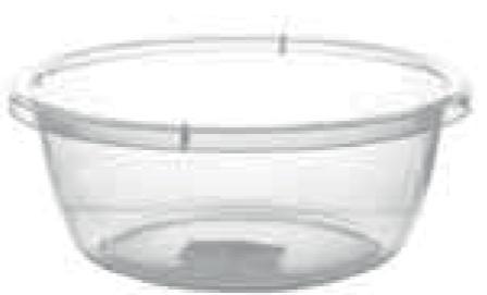 Прозрачный круглый таз, 4,5 л (280*110 мм) 54012