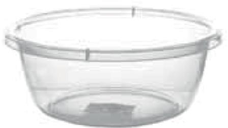 Прозрачный круглый таз, 7 л (320*125 мм) 94013