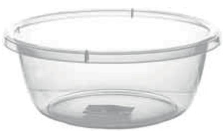 Прозрачный круглый таз, 10,5 л (370*140 мм) 94014