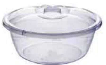 Прозрачный  таз с крышкой, 7 л (325*154 мм) 94016