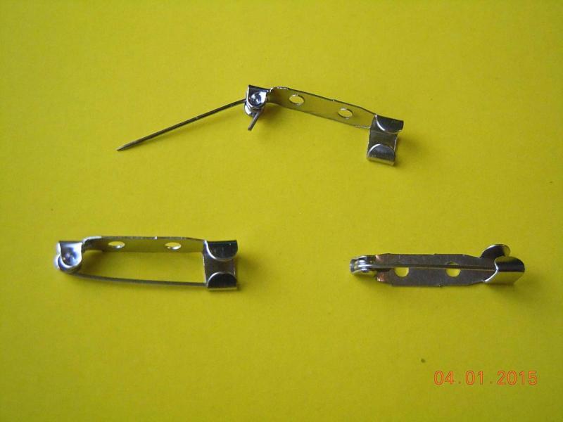 Фото Основы ,фурнитура для канзаши, Заколки, шпильки Металическая  , стальная , основа для броши  2,5 см.   ( планка )