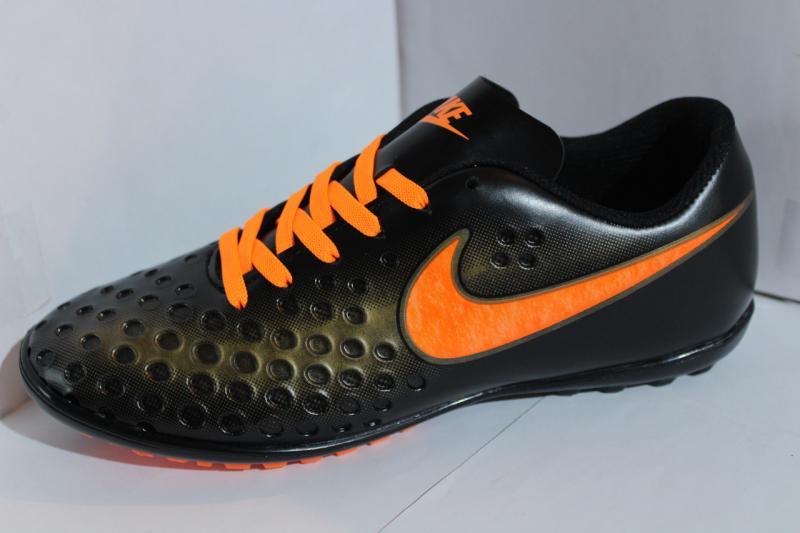 Футбольные кроссовки(копы) Nike Mercurial сороконожки на шнурке для игры в футбол на шнуровке синие Черный, 41