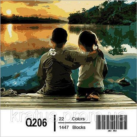 Фото Картины на холсте по номерам, Дети на картине Q206