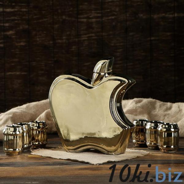 "Штоф с рюмками ""Фрукт"" золото, 7 предметов, 0,5 л купить в Гродно - Рюмки и стопки"