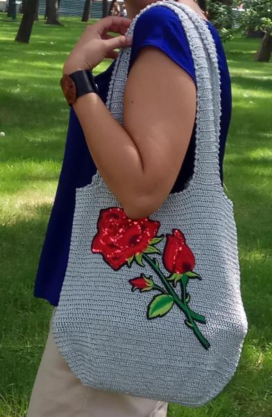 Летняя сумка с розой