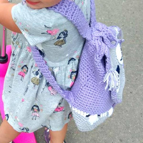 Фото Вязаные сумки Детский рюкзак