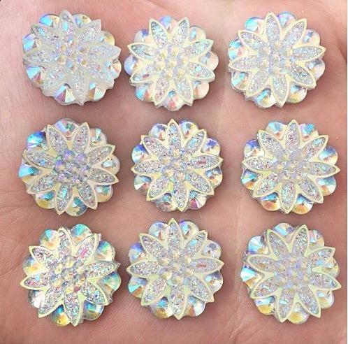Фото Серединки ,кабашоны, Серединки с жемчугом и стразами Кабашон Цветок 19 мм.