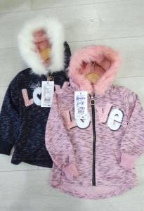 Фото НОВИНКИ Модная утепленная кофта девочке 1-5 лет