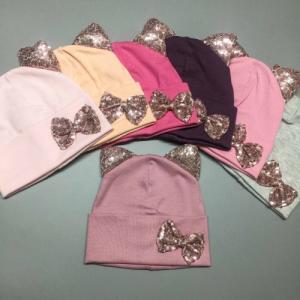 Фото Шапки, шарфы, рюкзаки, перчатки, кепки Шапка кошечка, двойной трикотаж 48-54 рр