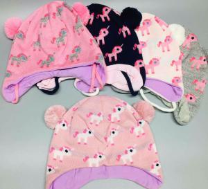 Фото Шапки, шарфы, рюкзаки, перчатки, кепки Супер цена! -15% Шапка вязка Единорожки 42/44рр