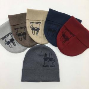 Фото Шапки, шарфы, рюкзаки, перчатки, кепки Модная шапка мальчику, вязка 48-54рр