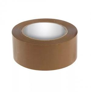 Фото Канцелярские товары (ЦЕНЫ БЕЗ НДС), Клейкая лента (Скотч)  Клейкая лента упаковочная матовая (коричневая), 48 м, 50 мм, 36 микр.