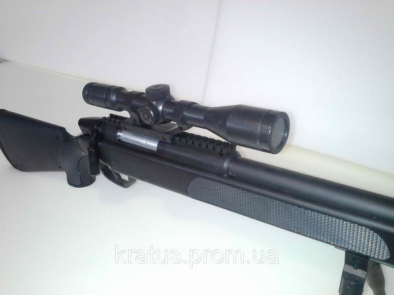 Фото Игрушечное Оружие, Стреляет пластиковыми 6мм  пульками, Металлическое и комбинированное (металл + пластик) оружие Винтовка снайперская  ZM51 металл+пластик черная
