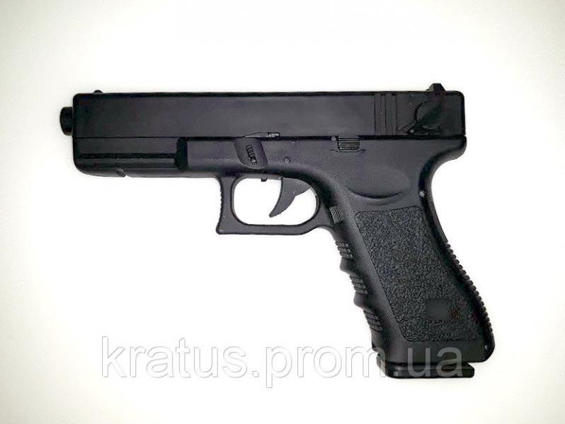 Фото Игрушечное Оружие, Стреляет пластиковыми 6мм  пульками, Металлическое и комбинированное (металл + пластик) оружие Пистолет  ZM 17 (Glock 18C)
