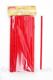 Трубочка пластиковая с изгибом красного цвета L 210 мм (уп 50 шт) 0242