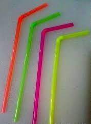 Трубочка пластиковая с изгибом разных цветов L 210 мм (уп 100 шт)0255