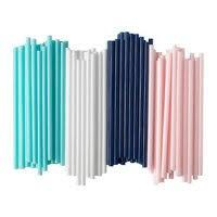 Трубочка пластиковая фрешная без изгиба разных цветов L 200 мм (уп 100 шт) 0241