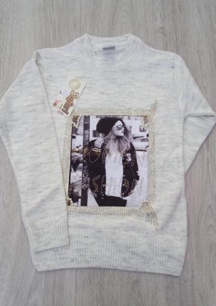 Модный свитер 9-13 лет