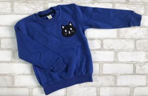 Фото Кофты, толстовки, рубашки, свитера Стильная утепленная кофта Котик 3-7 лет