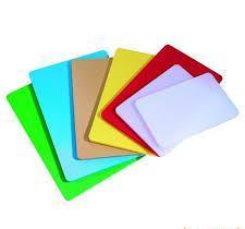 Доска разделочная пластиковая разных цветов 400*300*20 мм (шт) 2510