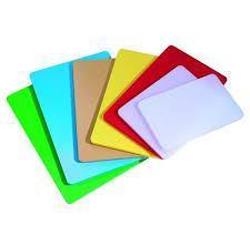 Доска разделочная пластиковая разных цветов 400*300*50 мм (шт) 2543