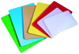 Доска разделочная пластиковая разных цветов 430*270*12 мм (шт) 2508