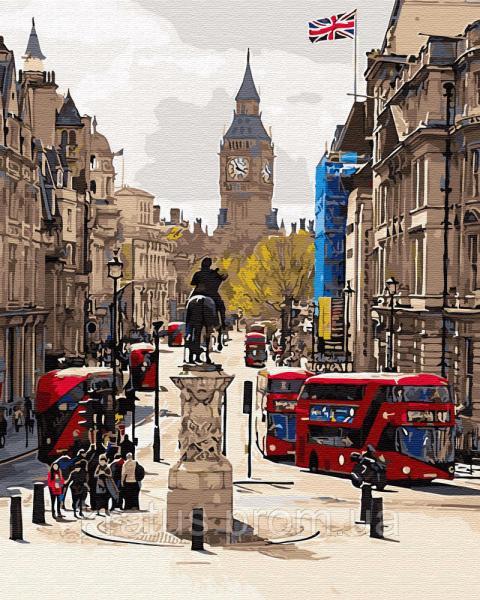GX 30082 Лондонский пейзаж Картина по номерам  40х50см без коробки, в пакете