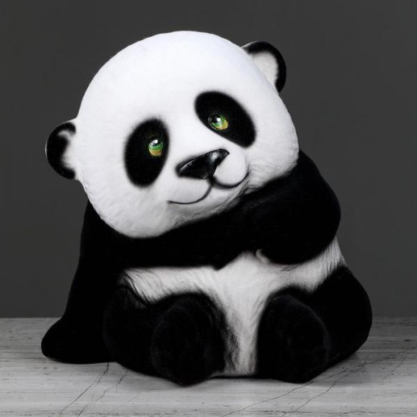 """Копилка """"Панда"""" флок"""