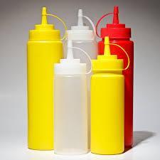 Диспенсер пластиковый для соусов и сиропов желтого цвета V 350 мл (шт) 7082
