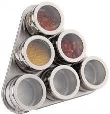 Емкость нержавеющая круглая для специй на магните (набор 7 пр) 0523