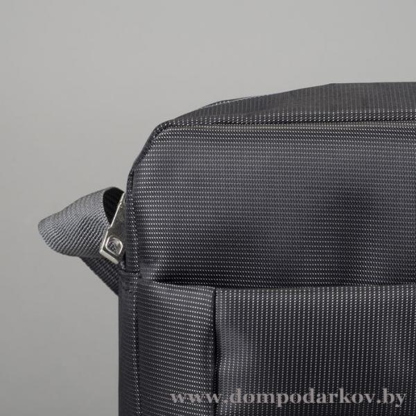 Фото ПОСМОТРЕТЬ ВЕСЬ КАТАЛОГ, Галантерея, Сумки мужские  Планшет мужской, 1 отдела, 2 наружных кармана, длинный ремень, цвет черный