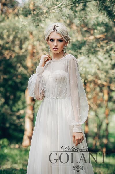 Стильное непышное свадебное платье бохо Нина