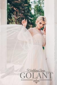 Фото Свадебные платья Стильное непышное свадебное платье бохо Нина
