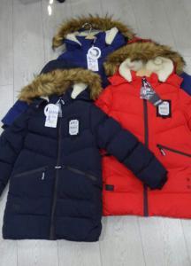 Фото НОВИНКИ Модное пальто зимнее для мальчика 4-12 лет