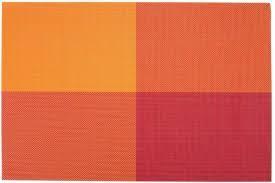 Коврик для сервировки стола красно - оранжевого цвета 450*300 мм (шт) 7043