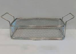 Корзинка { фритюрница} нержавеющая прямоугольная для подачи блюд 225*130*60 мм (шт) 6220